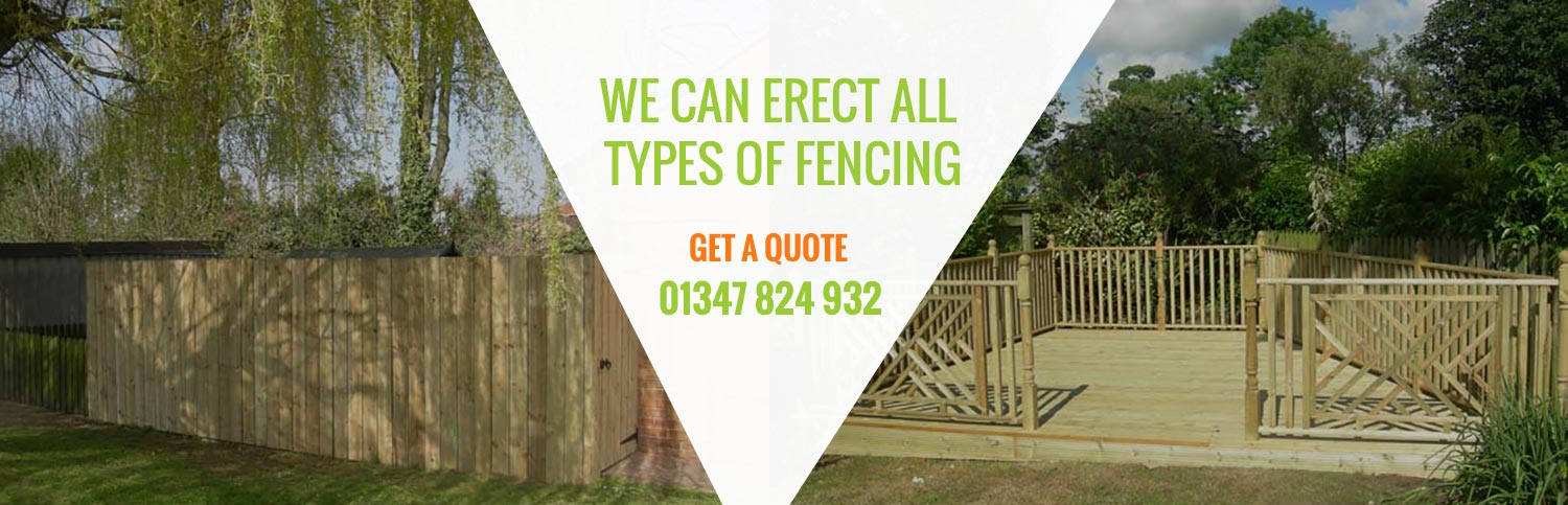 We can erect all types of fencing